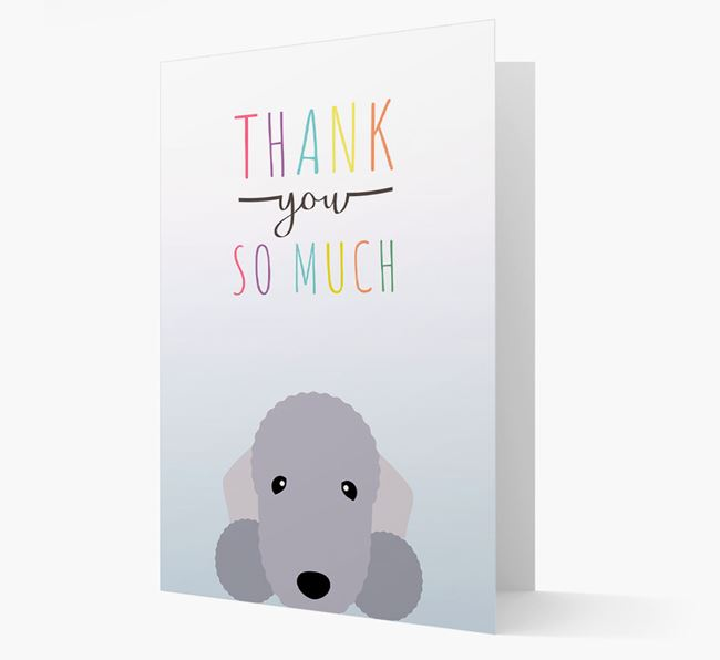 Bedlington Terrier Thank You Card