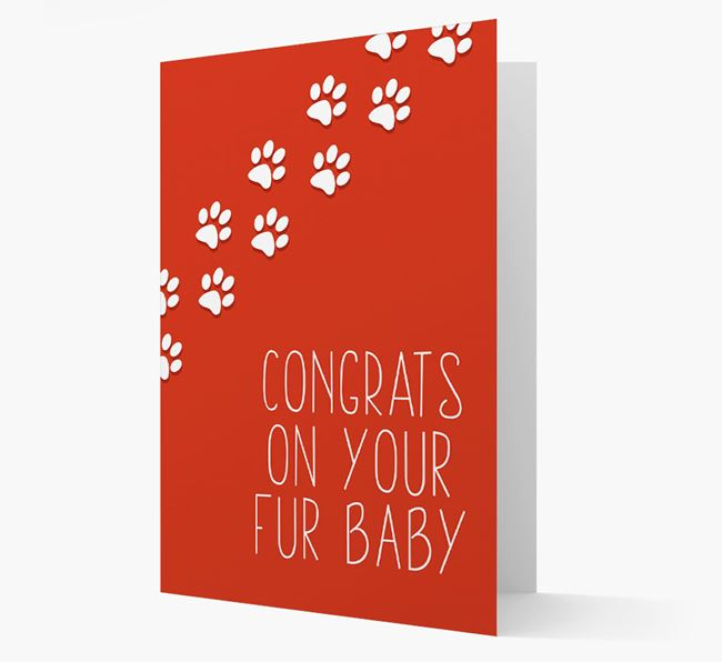 'Congrats on your Fur Baby' Card