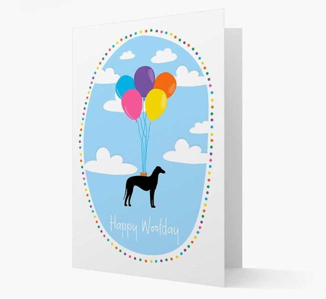 'Happy Woofday' Azawakh Card