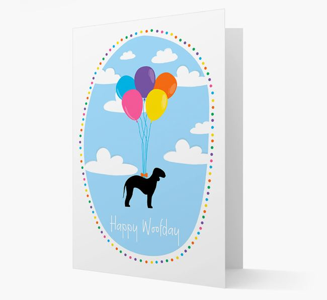 'Happy Woofday' Bedlington Terrier Card