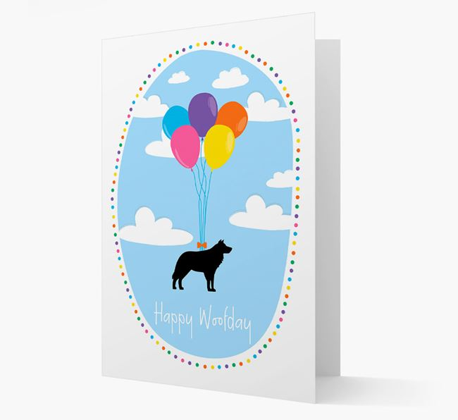'Happy Woofday' Border Collie Card