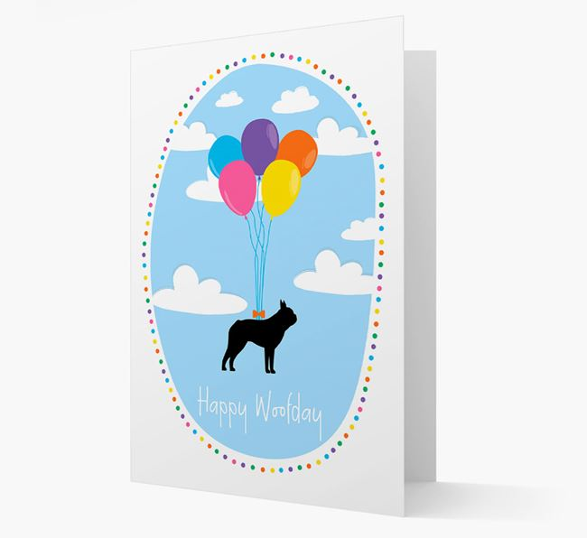 'Happy Woofday' Boston Terrier Card