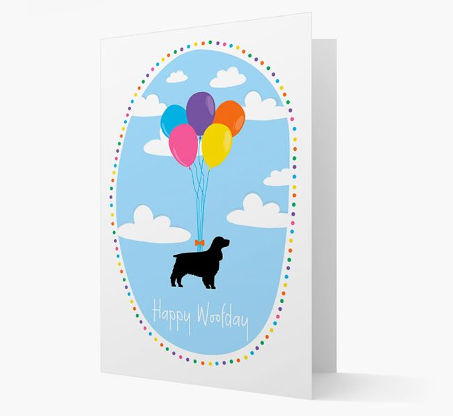 'Happy Woofday' Springer Spaniel Card