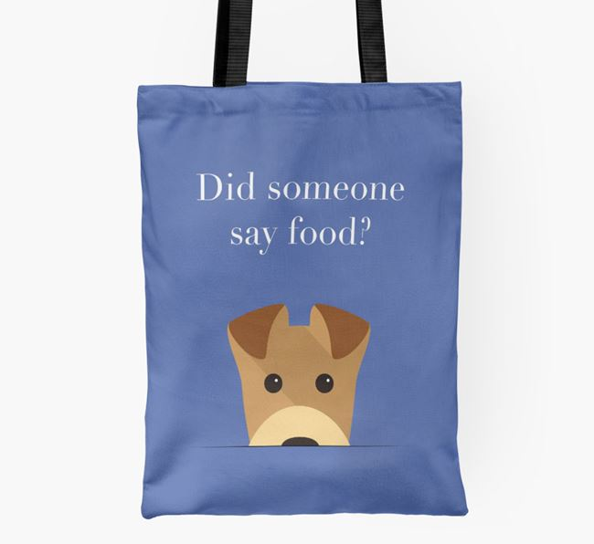 Did Someone Say Food? Airedale Shopper Bag