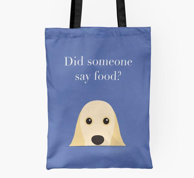Did Someone Say Food? Cocker Spaniel Shopper Bag