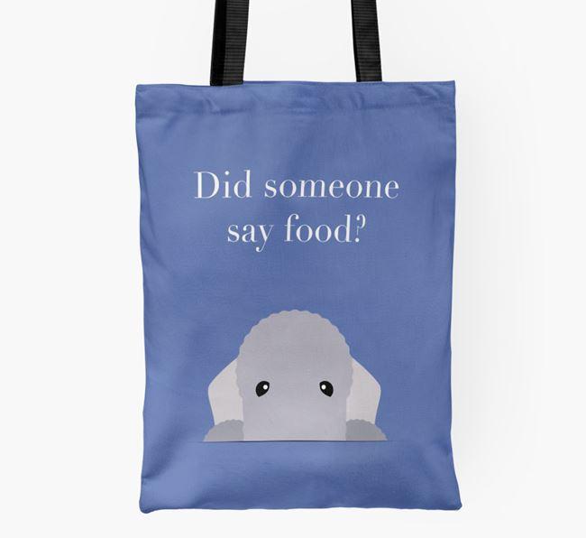 Did Someone Say Food? Bedlington Shopper Bag