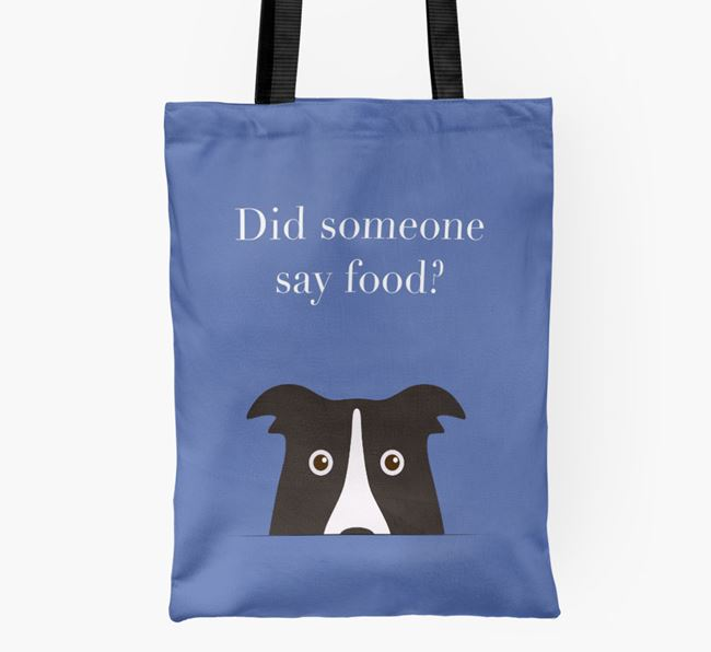Did Someone Say Food? Border Collie Shopper Bag