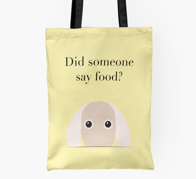 Did Someone Say Food? Borzoi Shopper Bag