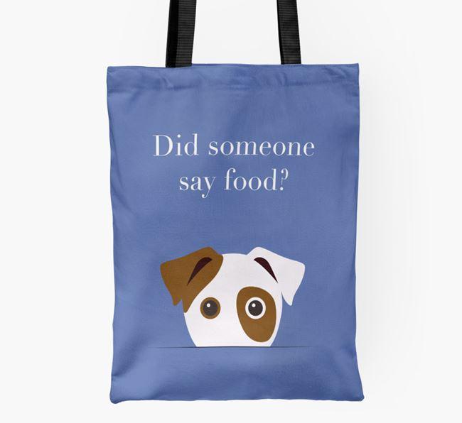 Did Someone Say Food? Dog Shopper Bag