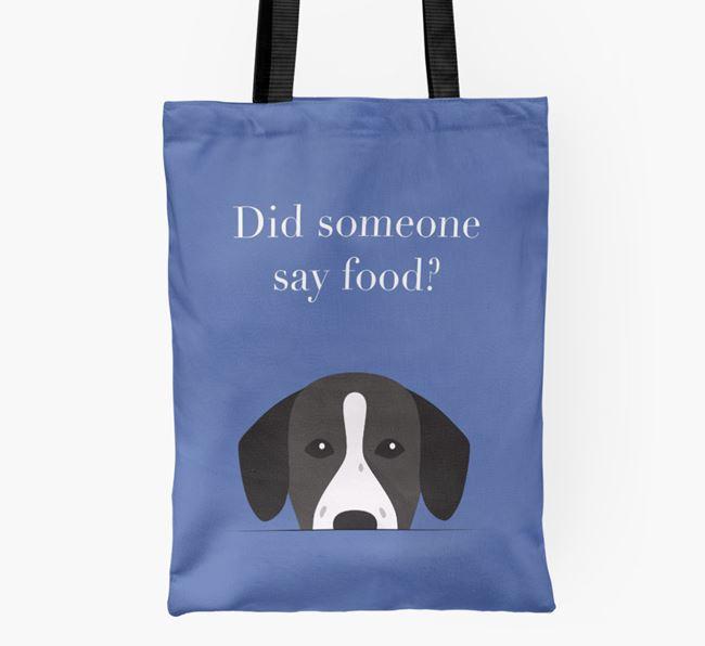 Did Someone Say Food? Springador Shopper Bag