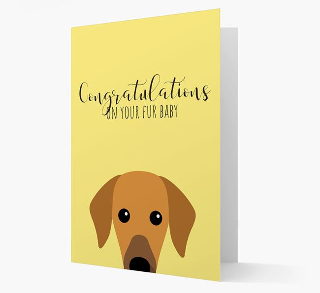 'Congrats on your Fur Baby' Card with Azawakh Icon