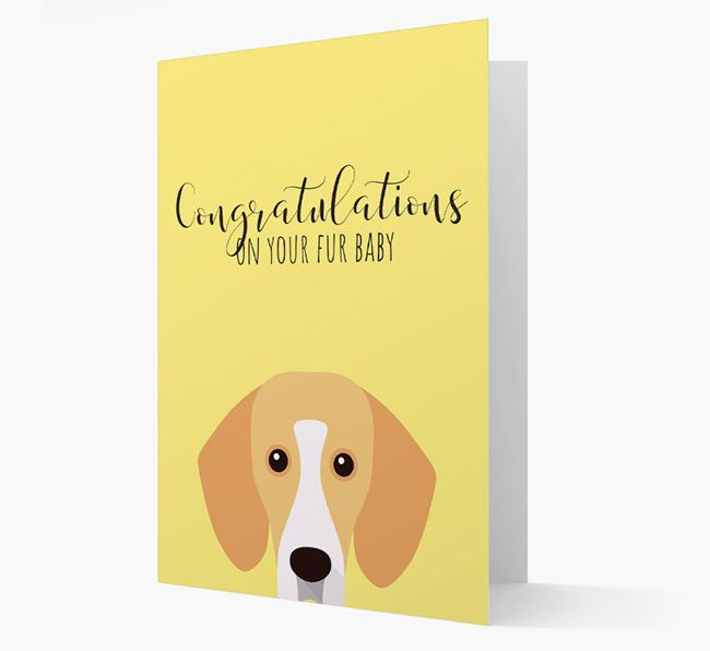 'Congrats on your Fur Baby' Card with Bassador Icon