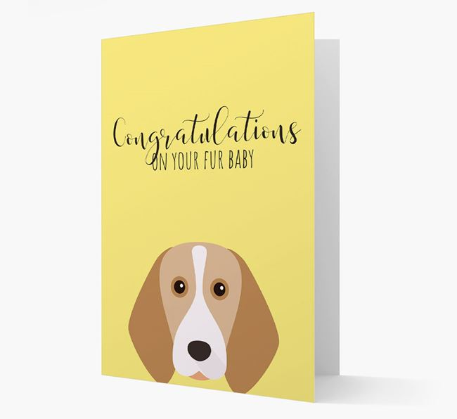 'Congrats on your Fur Baby' Card with Beagle Icon