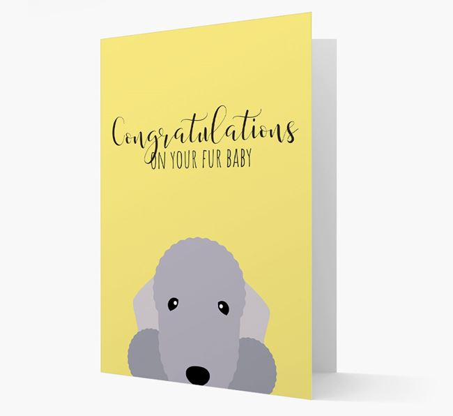'Congrats on your Fur Baby' Card with Bedlington Icon