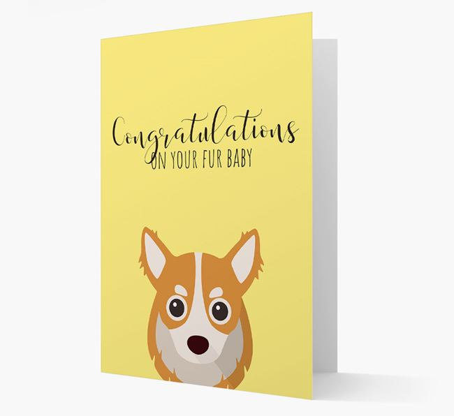 'Congrats on your Fur Baby' Card with Chihuahua Icon