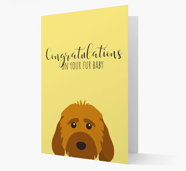 'Congrats on your Fur Baby' Card with Cockapoo Icon