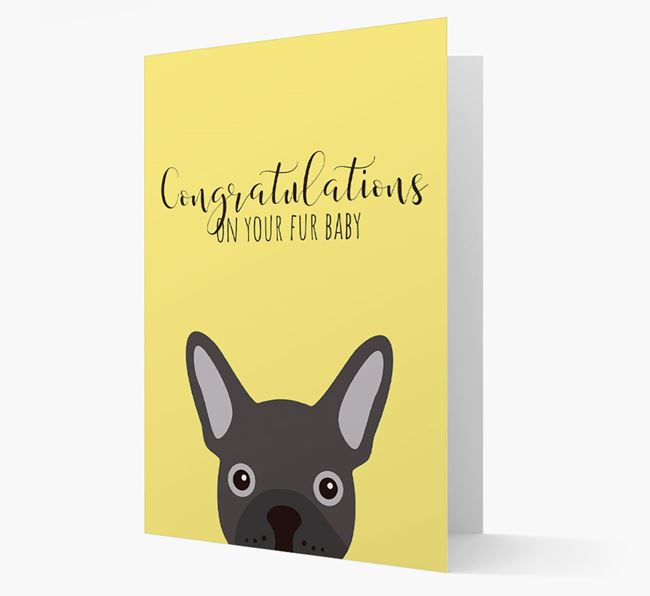 'Congrats on your Fur Baby' Card with Frenchie Icon