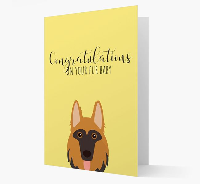 'Congrats on your Fur Baby' Card with German Shepherd Icon