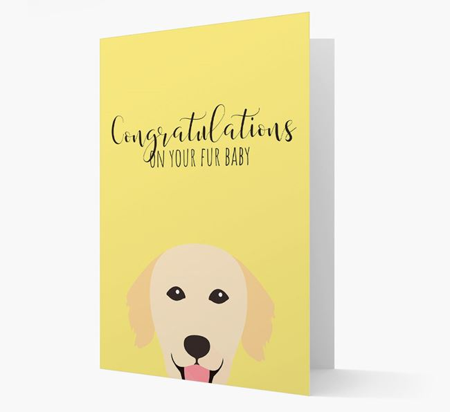 'Congrats on your Fur Baby' Card with Golden Retriever Icon