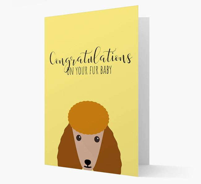 'Congrats on your Fur Baby' Card with Poodle Icon
