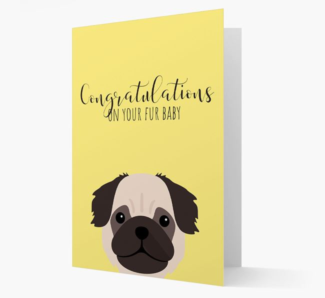 'Congrats on your Fur Baby' Card with Pug Icon