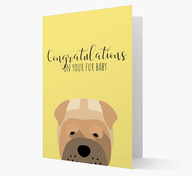 'Congrats on your Fur Baby' Card with Dog Icon