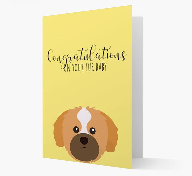 'Congrats on your Fur Baby' Card with Shih Tzu Icon