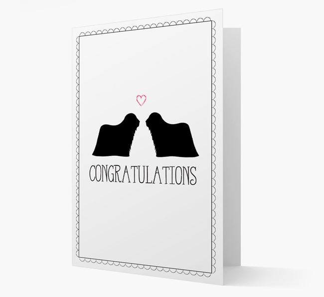Congratulations 'Love' Komondor Card