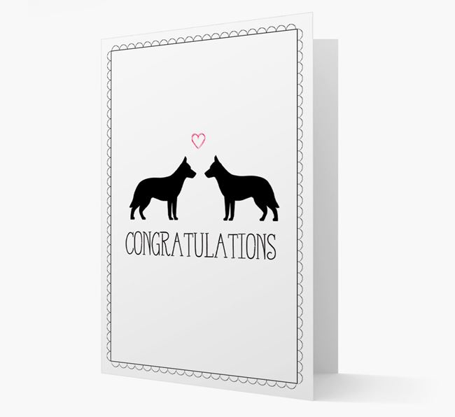 Congratulations 'Love' Tamaskan Card
