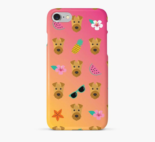 Tropical Airedale Terrier Phone Case
