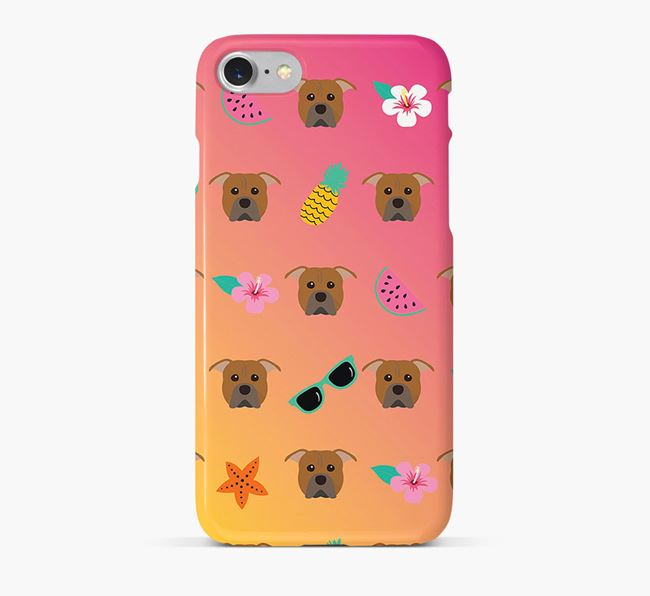 Tropical American Pit Bull Terrier Phone Case