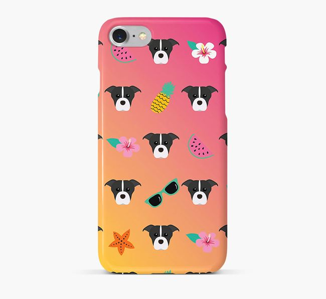 Tropical American Staffordshire Terrier Phone Case
