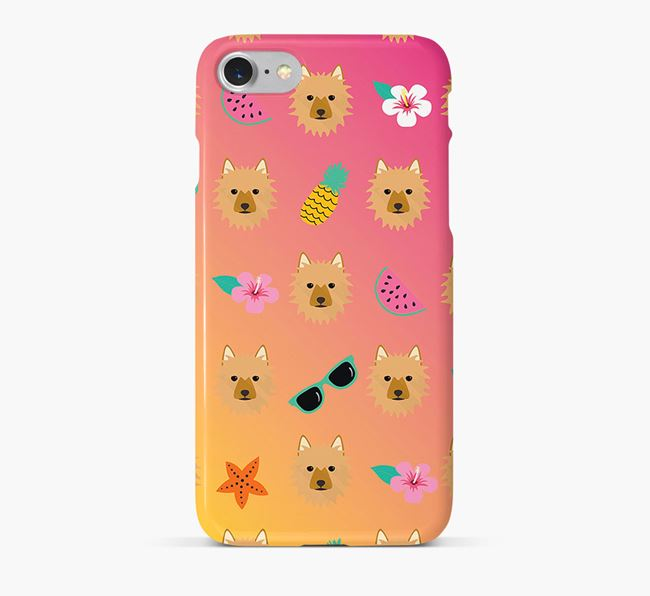 Tropical Australian Terrier Phone Case
