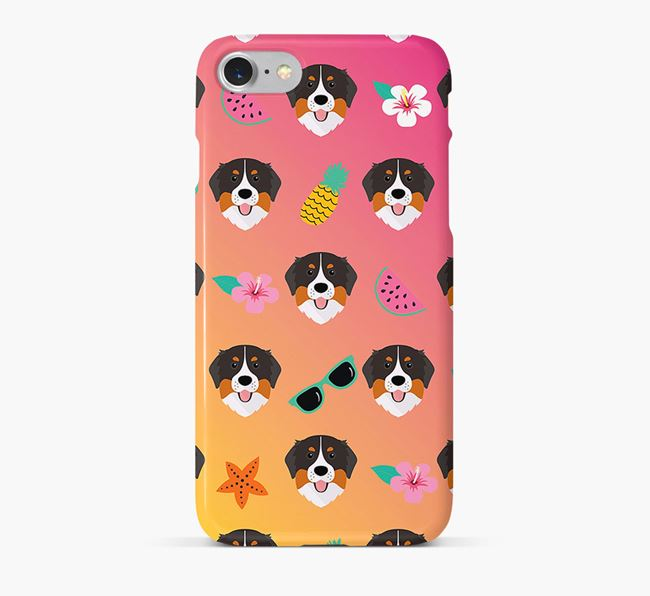 Tropical Bernese Mountain Dog Phone Case