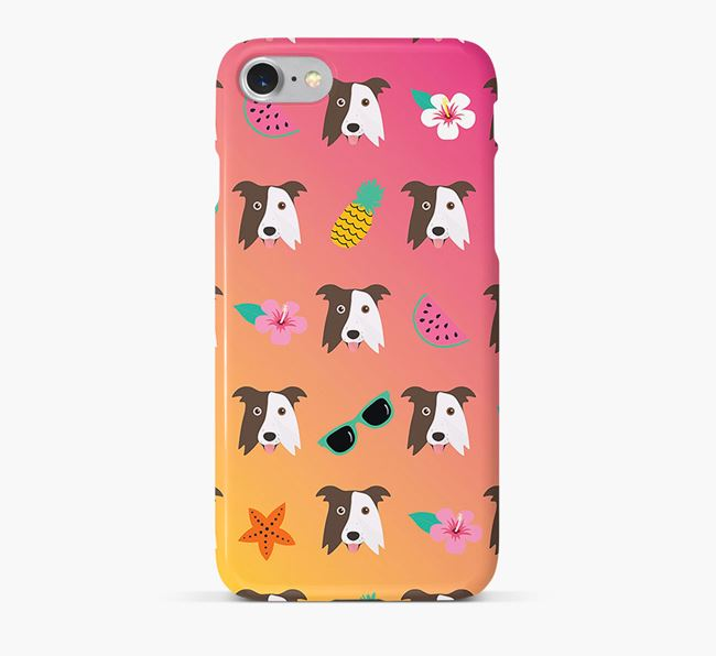 Tropical Border Collie Phone Case