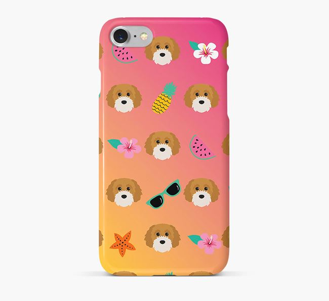 Tropical Cavapoochon Phone Case