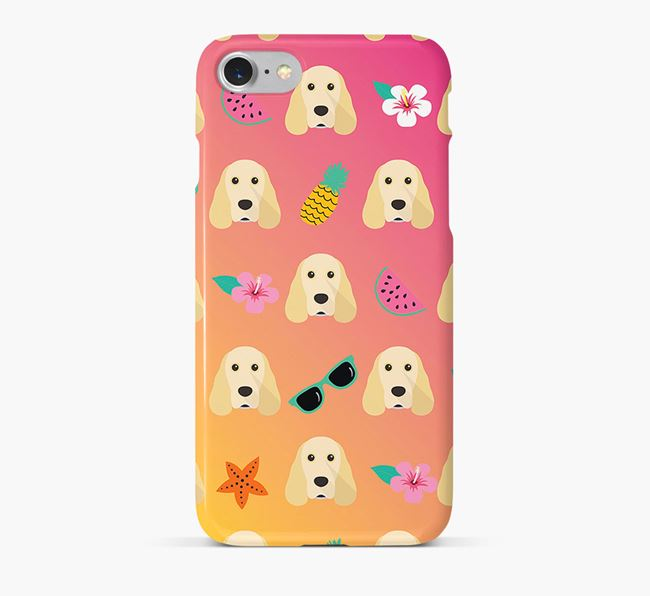 Tropical Cocker Spaniel Phone Case