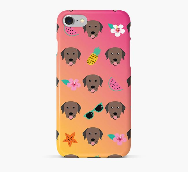 Tropical Curly Coated Retriever Phone Case