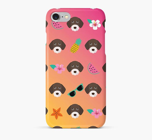 Tropical German Wirehaired Pointer Phone Case