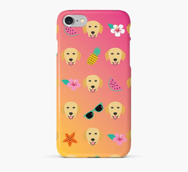 Tropical Golden Retriever Phone Case