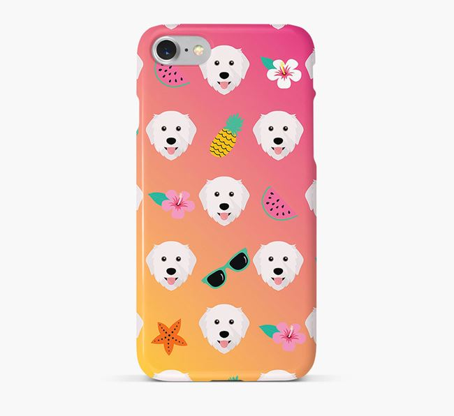 Tropical Great Pyrenees Phone Case