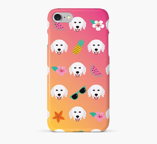 Tropical Hungarian Kuvasz Phone Case