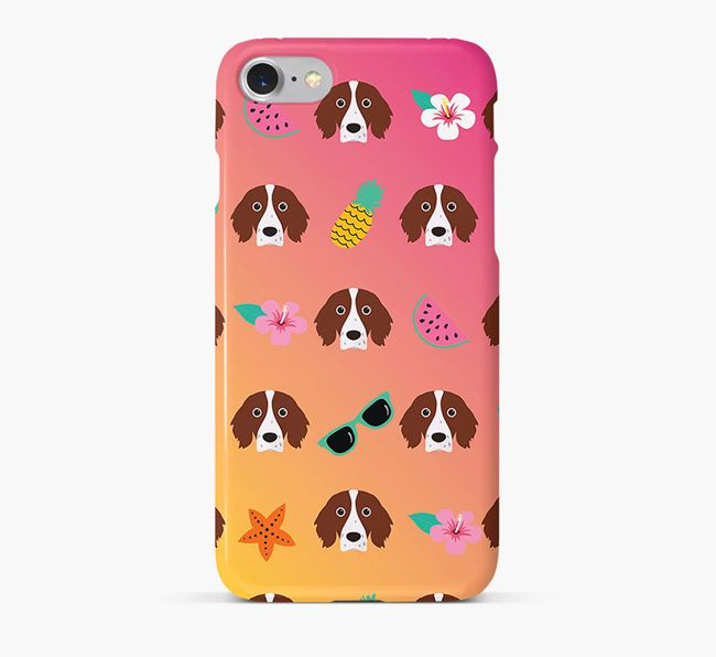 Tropical Irish Red & White Setter Phone Case