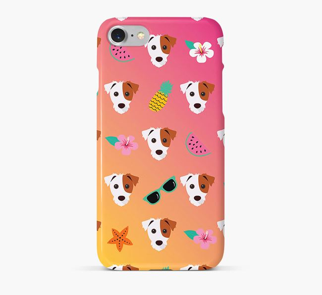 Tropical Jack Russell Terrier Phone Case
