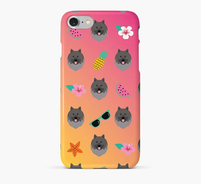 Tropical Keeshond Phone Case
