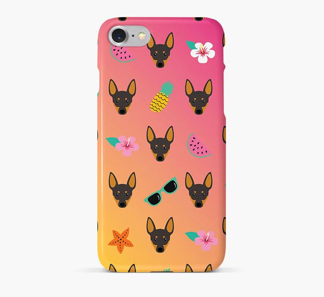Tropical Manchester Terrier Phone Case