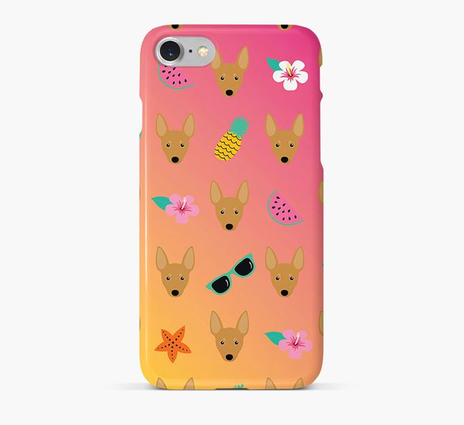 Tropical Miniature Pinscher Phone Case