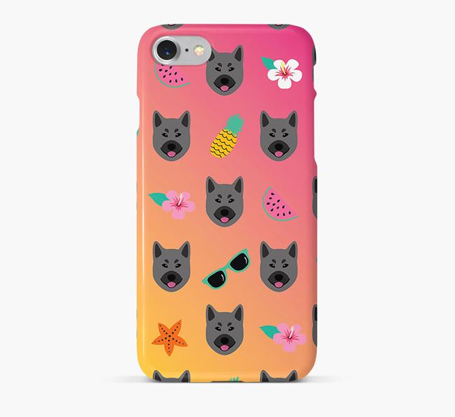 Tropical Norwegian Elkhound Phone Case