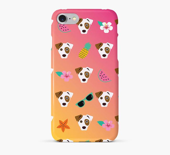 Tropical Parson Russell Terrier Phone Case