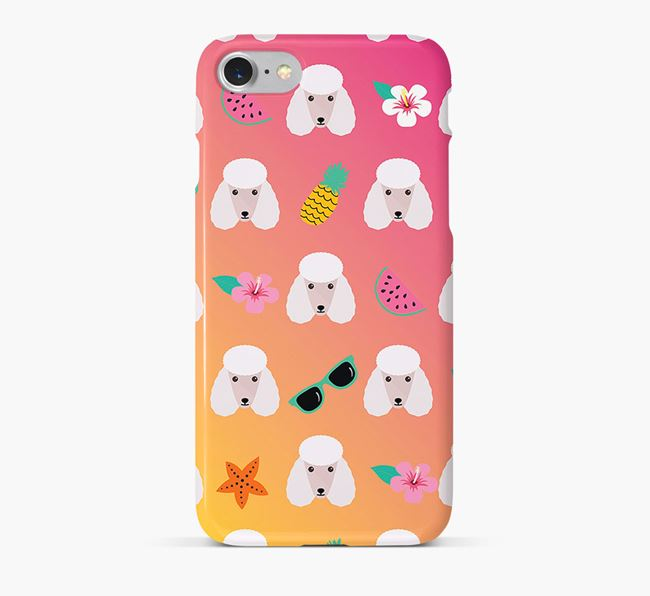Tropical Poodle Phone Case